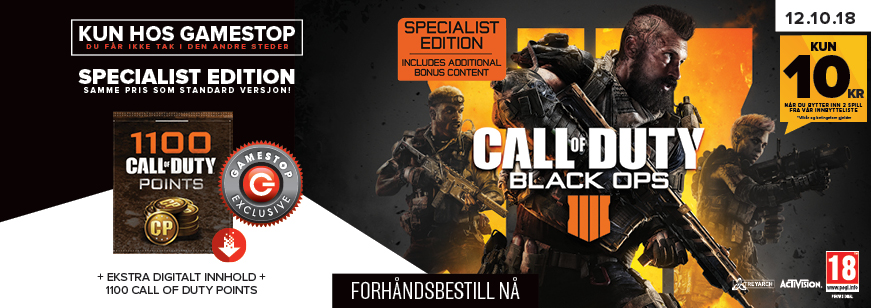 Call Of Duty: Black Ops 4 Specialist Edition Pre-Order