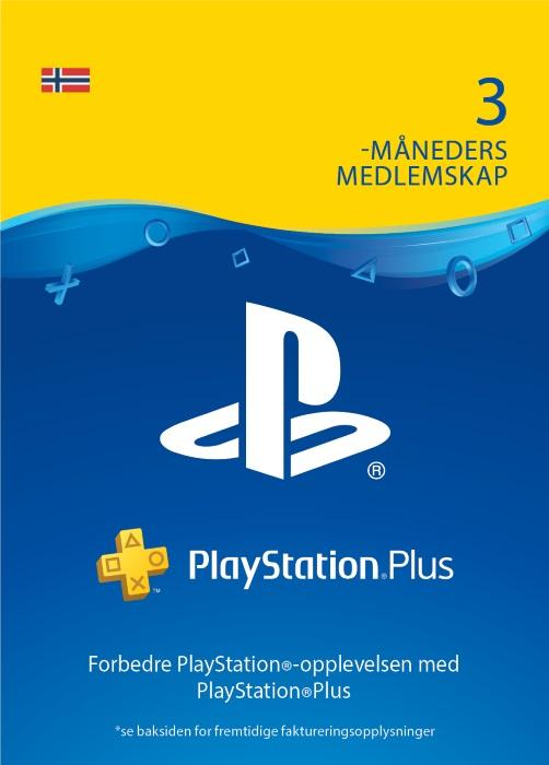 PlayStation®Plus: 3 måneders medlemskap [DIGITALT]