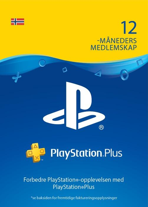 PlayStation®Plus: 12 måneders medlemskap [DIGITALT]