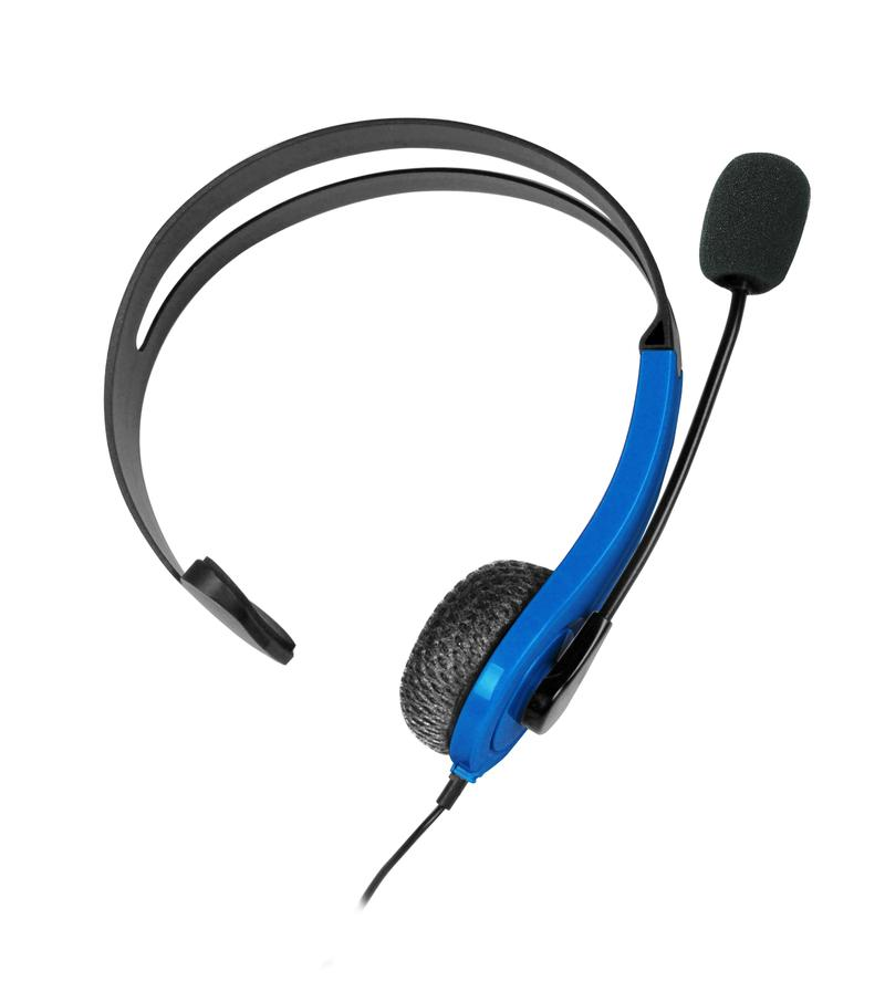 At Play Black/Blue Chat Headset til PS4