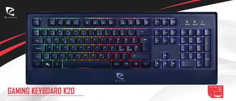 Piranha Gaming Keyboard K20