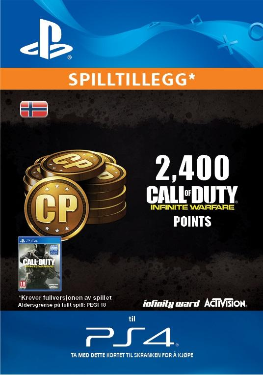 Call of Duty: Infinite Warfare 2,400 Points for PS4 [DIGITALT]