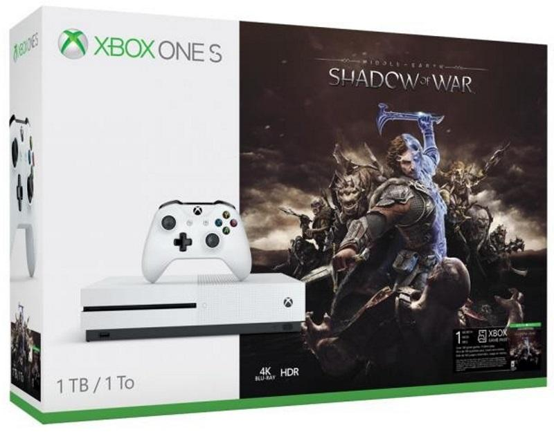 Xbox One S 1TB Konsoll og Middle Earth: Shadow of War
