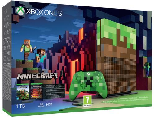 Xbox One S 1tb Limited Edition Minecraft Konsoll Gamestop