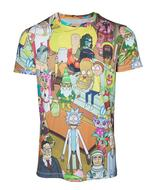Rick and Morty: Characters Printed Allover T-Shirt