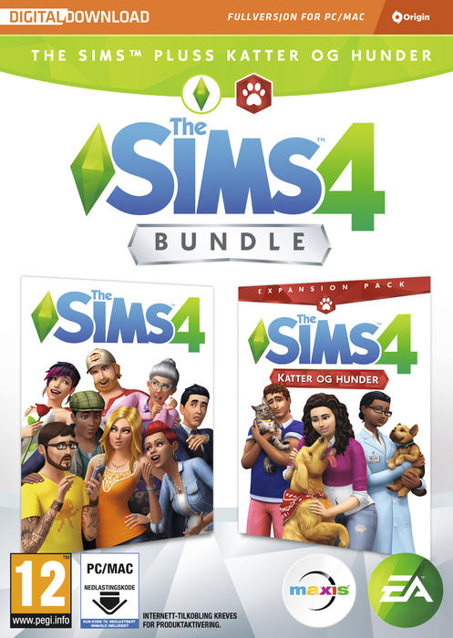 The Sims 4 Amp The Sims Cats Amp Dogs Bundle Gamestop Norge