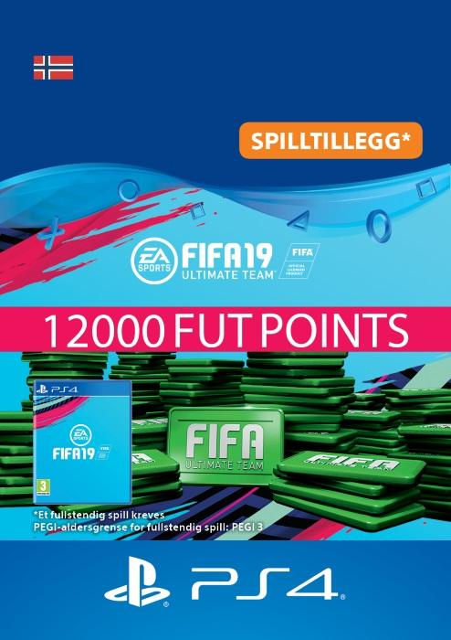 FIFA 19 Ultimate Team™ - 12000 Points Til PS4 [DIGITALT]