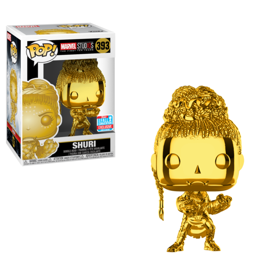 POP Marvel: Marvel 10 Shuri Chrome NYCC18 Pop! Figure