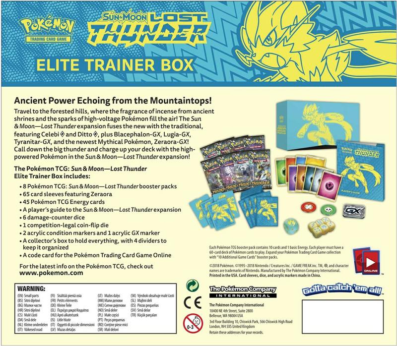 Pokémon TCG: Lost Thunder Elite Trainer Box