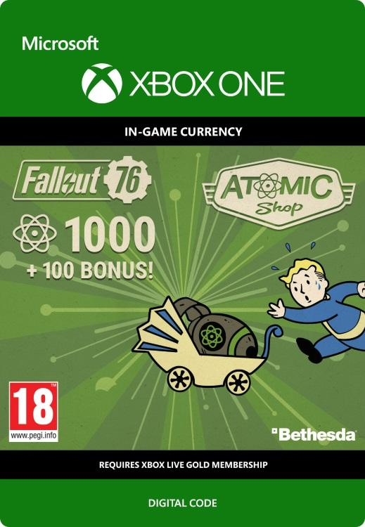 Fallout 76 - 1000 (+100 i bonus) Atoms Til Xbox One [DIGITALT]