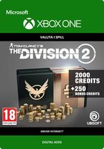 Tom Clancy's - The Division 2: Pakke Med 2250 Premium Credits Til Xbox One