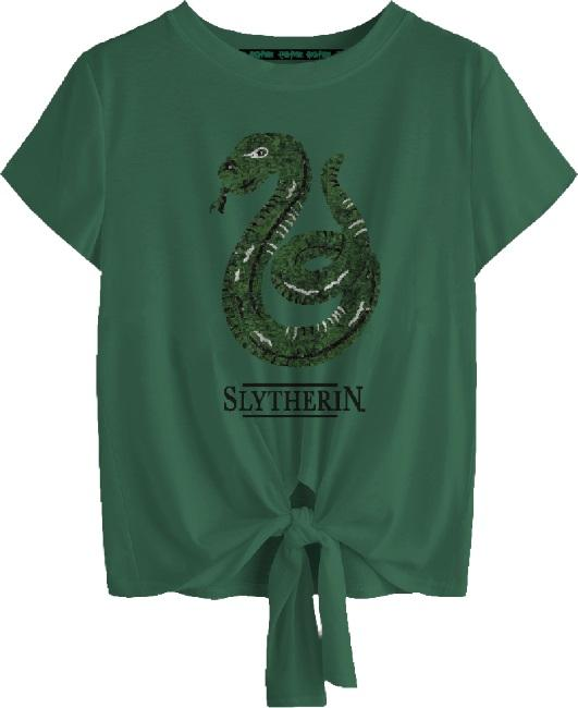 Harry Potter: Slytherin Tied Crop Top [large]