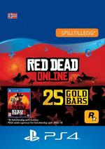 Red Dead Redemption 2: 25 gullbarrer til PS4