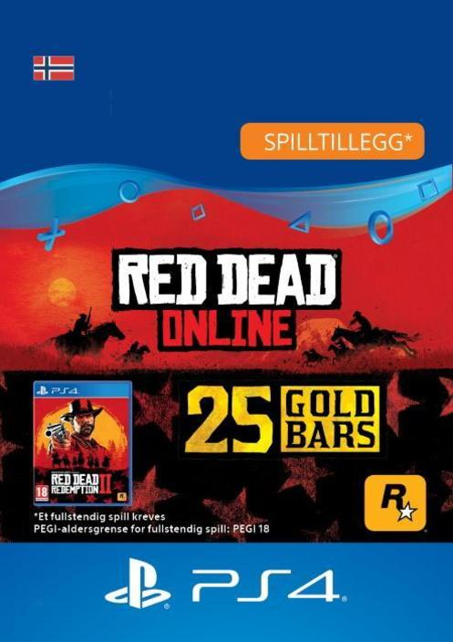 Red Dead Redemption 2: 25 gullbarrer til PS4 [DIGITALT]