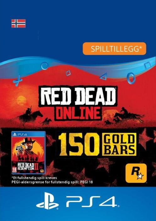 Red Dead Redemption 2: 150 gullbarrer til PS4 [DIGITALT]