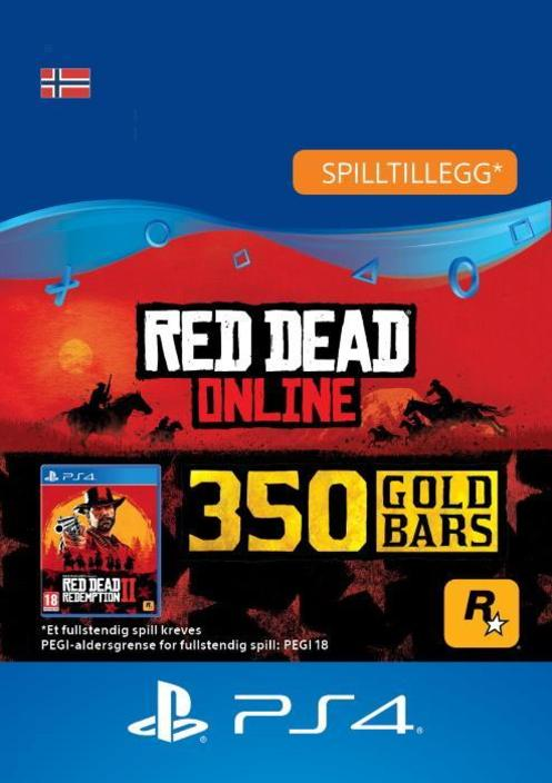 Red Dead Redemption 2: 350 gullbarrer til PS4 [DIGITALT]