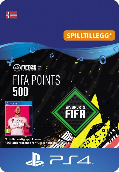 FIFA 20 Ultimate Team™ - 500 Points til PS4 [DIGITALT]