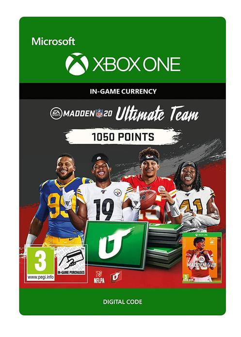 Madden NFL 20 Ultimate Team 1050 Points til Xbox One [DIGITALT]