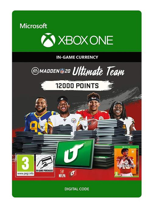 Madden NFL 20 Ultimate Team 12000 Points til Xbox One [DIGITALT]
